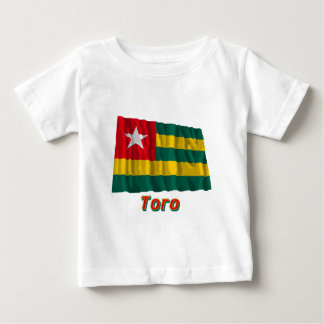 Waving Togo Flag with name in Russian Baby T-Shirt