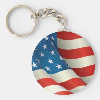 Waving U.S. Flag Keychain