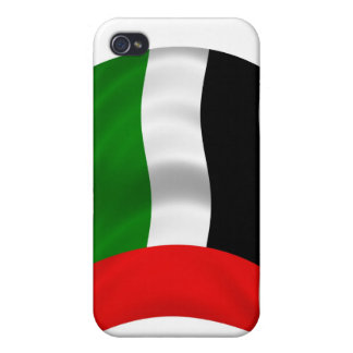 Waving UAE Flag Cases For iPhone 4