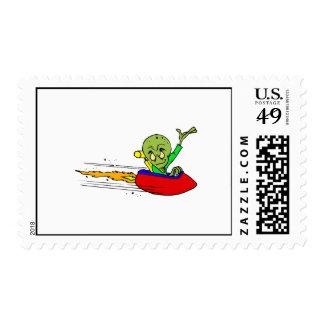 Waving UFO Flyer Stamp