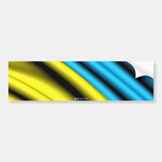 Waving Ukrainian Flag Bumper Sticker