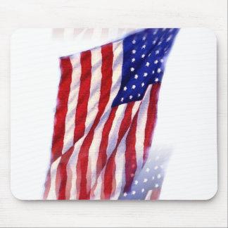 Waving US Flag Mouse Pad
