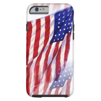 Waving US Flag Tough iPhone 6 Case