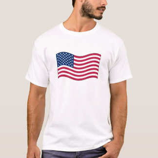 Waving USA Flag Basic t-shirt