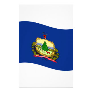 Waving Vermont Flag Stationery