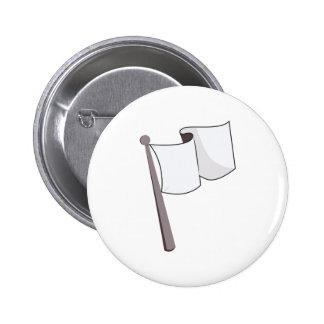 Waving White Flag Pinback Button