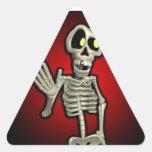 WavingSkeleton Sticker!! Triangle Sticker