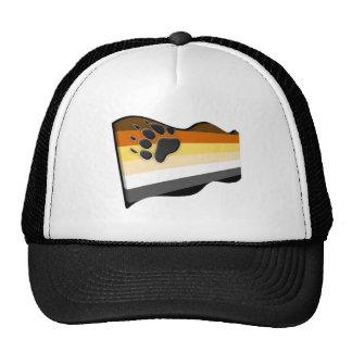 Wavy 3D Bear Flag Trucker Hat