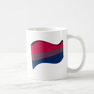 Wavy 3D Bisexual Pride Flag Coffee Mug