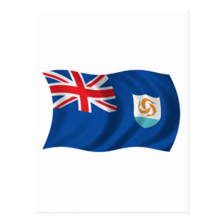 Wavy Anguilla Flag Postcard