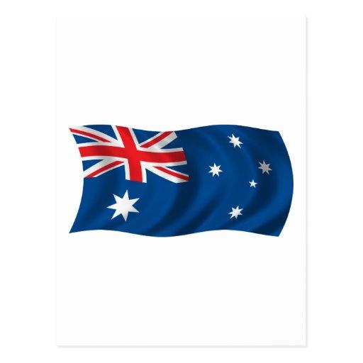Wavy Australia Flag Post Cards
