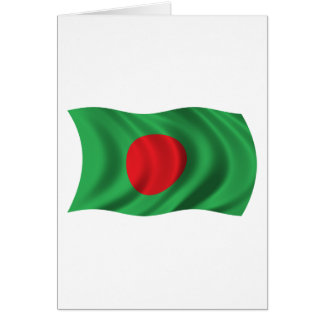 Wavy Bangladesh Flag Card