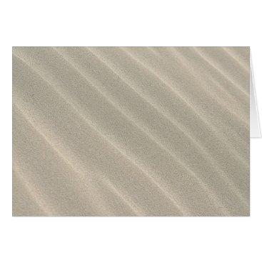 Beach Themed Wavy Beach Sand Note Card