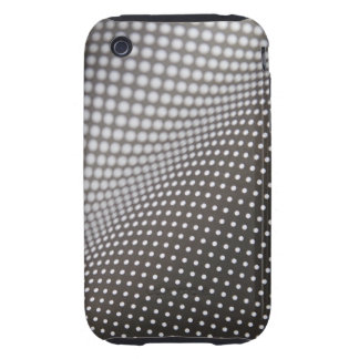 wavy black and white dots iPhone 3 tough case