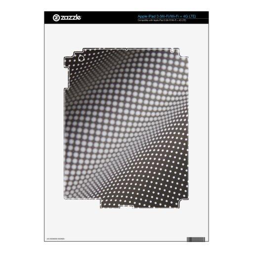 wavy black and white polka dots iPad 3 skin