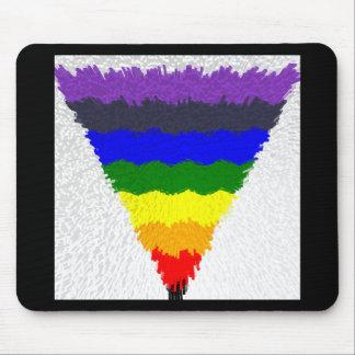 Wavy Block Fibers Rainbow Triangle Funnel Mouse Pad