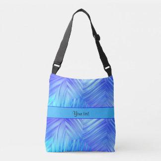 Wavy Blue Glass Crossbody Bag