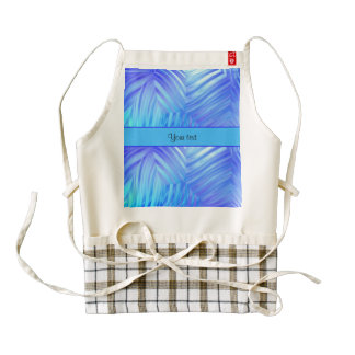 Wavy Blue Glass Zazzle HEART Apron