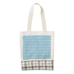 Wavy Blues Zazzle HEART Tote Bag