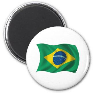 Wavy Brazil Flag Fridge Magnet
