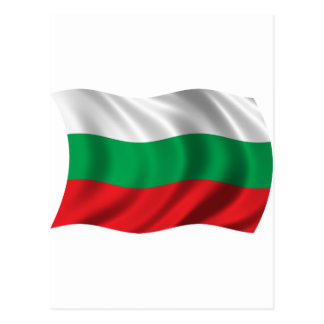 Wavy Bulgaria Flag Postcard