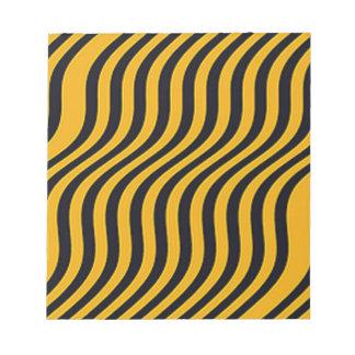 Wavy Bumblebee Slide Stripes Notepad