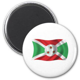 Wavy Burundi Flag Magnet