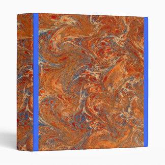 Wavy chafed marbled binder