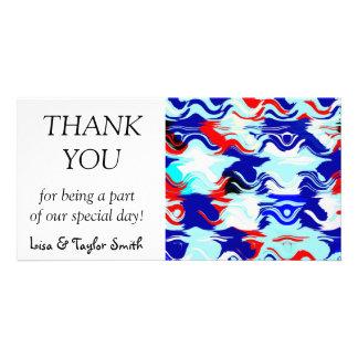Wavy chaos abstract design card