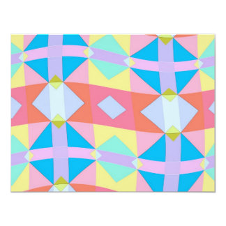 wavy chequered pattern card
