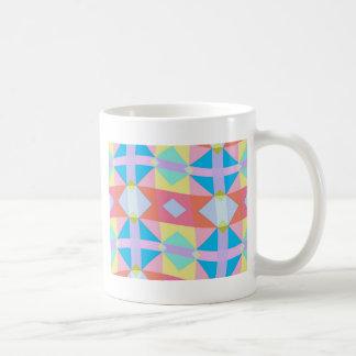 wavy chequered pattern classic white coffee mug