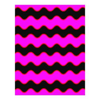 Wavy Chevron Zig Zag Stripes Flyer