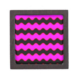 Wavy Chevron Zig Zag Stripes Jewelry Box