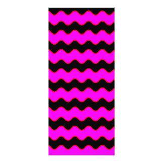 Wavy Chevron Zig Zag Stripes Rack Card