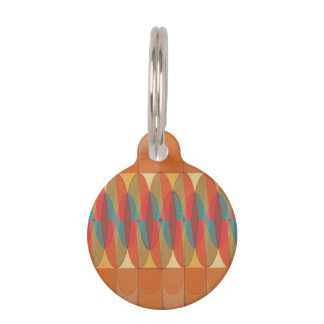 Wavy color stripe pet ID tag