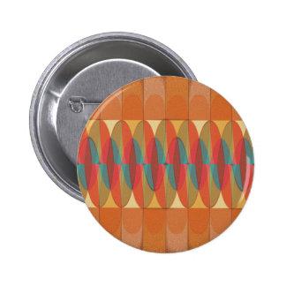 Wavy color stripe pinback button