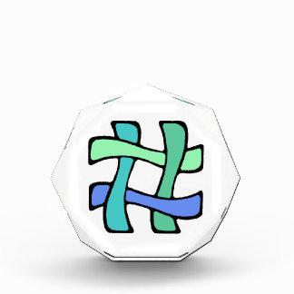 Wavy Colorful # Hashtag Blue Green Social Media Award