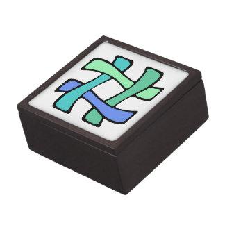 Wavy Colorful # Hashtag Blue Green Social Media Gift Box