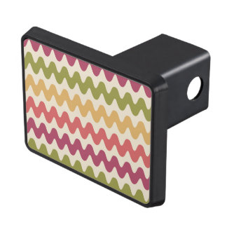 Wavy colours trailer hitch cover