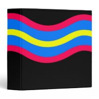 Wavy Daze black Vinyl Binders