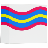 Wavy Daze White Binders