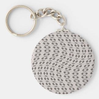 Wavy Design Basic Round Button Keychain