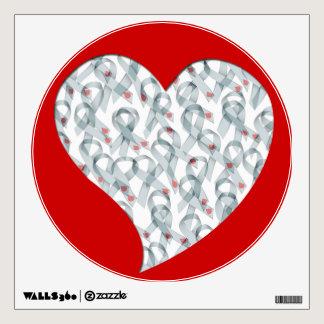 WAVY DIABETES RIBBONS WALL STICKER