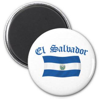 Wavy El Salvador National Flag 2 Inch Round Magnet