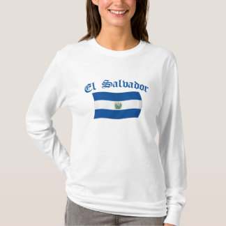 Wavy El Salvador National Flag T-Shirt