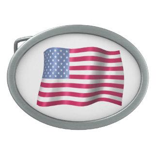 Wavy Flag Belt Buckle