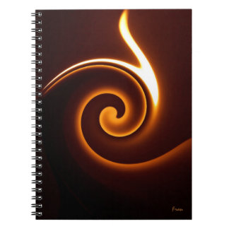 wavy flame notebook