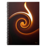wavy flame spiral note books
