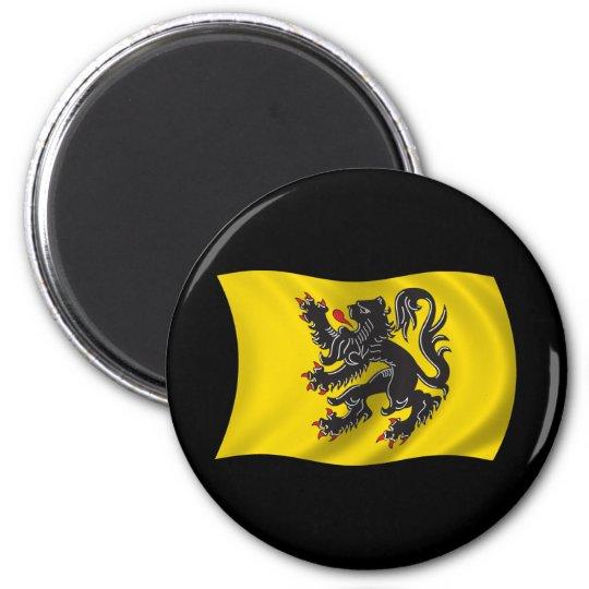 Wavy Flanders Flag Magnet