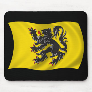 Wavy Flanders Flag Mouse Pad
